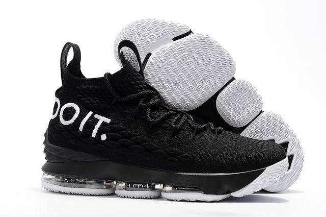 Nike Lebron James 15 Air Cushion Shoes Idea Black White